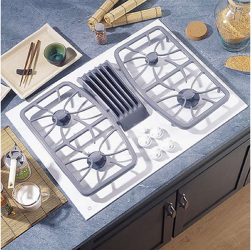 GE Profile Bisque-on-Bisque 30 in X 21-7/8 in.. Gas Downdraft Cooktop With Sealed Burners  $1253.74
