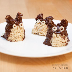 Totoro Rice Crispy Treats