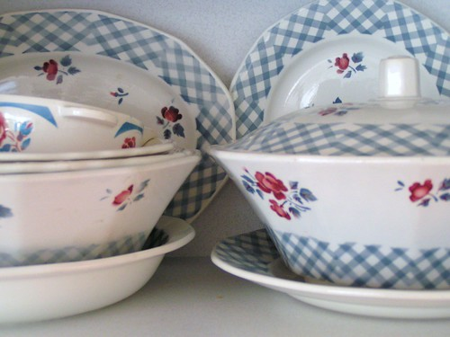 My vintage French crockery