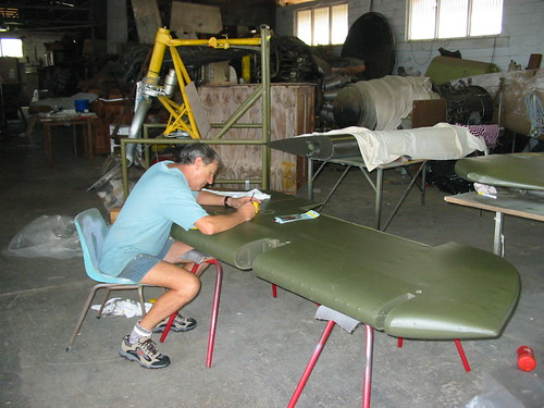 AHSNT B25 Tail Under Construction March 2003