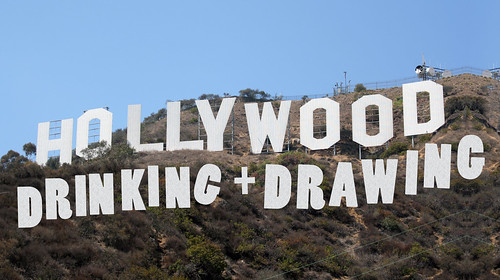 Drinking & Drawing Hollywood 2009