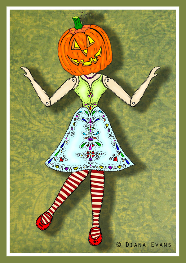 halloween striped sock lady