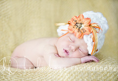 Happy Fall (Heidi Hope) Tags: sleeping portrait orange flower fall girl hat gold newborn hh familyphotographer warwickri babyphotographer maternityphotographer newenglandphotographer newbornphotographer massachusettsphotographer rhodeislandphotographer pregnancyphotographer heidihopephotography heidihope babystudio newbornportraitstudio