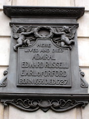 Photo of Edward Russell grey plaque
