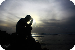 Prayer is the language (Lel4nd) Tags: shadow man beach leland religious island faith prayer emo lee christianity nikko emotional powerful silhoutte guam 671 gunbeach lelandfrancisco