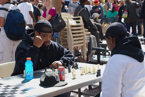 dudes playing chess