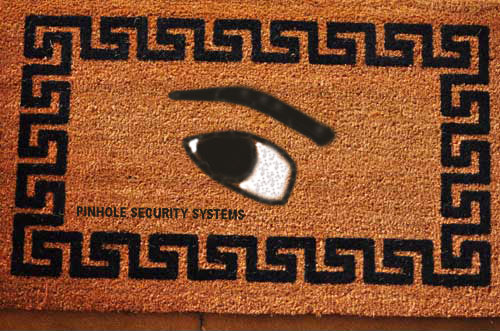 welcome mat pinhole security systems