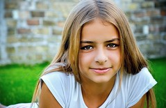 Florina (AragianMarko) Tags: portrait girl closeup photoshop nikon burn adobe romania dodge vignette depth lightroom 18105 soften florina timis d90 labcolormode devojka aragianmarko