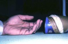 Death by Poppin' Fresh (Orienting Response) Tags: blue death pilsbury funny hand floor tube drop biscuits rolls corpse unexpected suprise rigormortis poppinfresh postmortemspasm coldshortening cadavericspasm