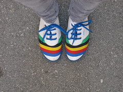 Startas 1987 shoes (Zen Child) Tags: street blue red white black green fashion yellow concrete shoes 1987 startas
