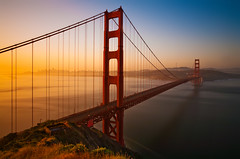 The Quintessential San Francisco Sunrise (chris lazzery) Tags: sanfrancisco california longexposure sunrise goldengatebridge 5d sanfranciscobay canonef1740mmf4l bw30nd