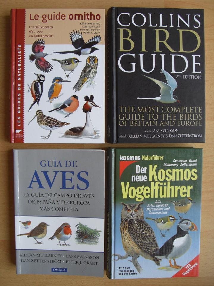 Svensson et al: Bird Guides in German, English, Spanish, French