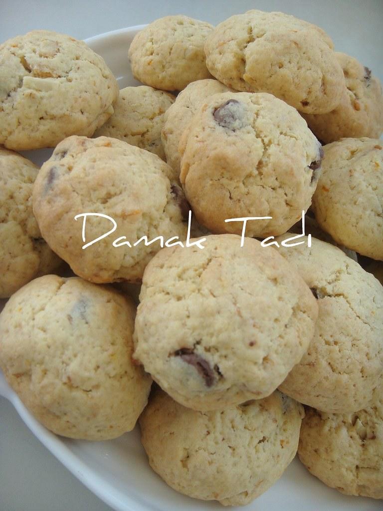 Mısırgevrekli,çikolatalı kurabiyeler