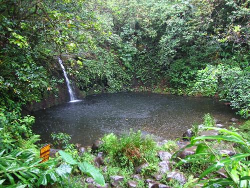 Haipua'ena Falls Waterfall, Road to Hana