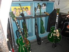 Under the stage at U2 360 - Seattle, Wa (Tim Durkan) Tags: u2 guitar bono edge beatles backstage johnlennon larrymullen paulmccartney georgeharrison adamclayton ringostar aungsansuukyi