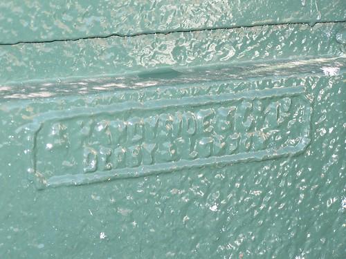 A Handyside badge on Ilkeston fountain
