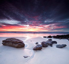 fishing in miami (Pawel Papis Photography) Tags: ocean cloud seascape color water rock sunrise fisherman dri vertorama