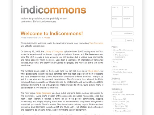 Indicommons is Live!