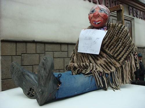 Año Viejo doll in Cuenca...