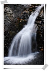 (Snow Flakes99) Tags: brown white nature water leaves yellow rock waterfall scenery fallen splash spattering