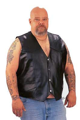 Tall Big Tall Leather Vest-Dynamicleather-US by Dynamicleather-US