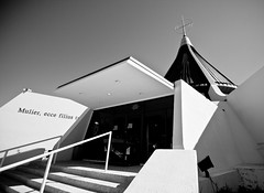 Hermita de la Caridad (orly12) Tags: bw building church architecture stairs cross pray holy latin walls cuban 10mm canonxti hermitadelacaridad orly12 mercyhostipal
