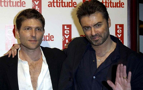 George Michael and Kenny Goss enjoy the limelight. (Courtesy Dallas Observer)