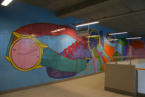 Decoration inside Woolwich DLR Station - 1