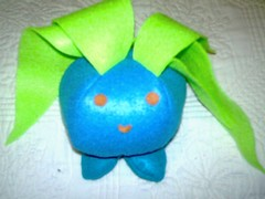 oddish.jpg (tallulahtrifles) Tags: uk handmade sewing craft felt plushie pokemon softtoy oddish