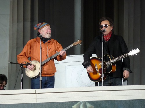 Pete Seeger a Bruce Springsteen