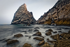 Primeval coastline (Lus C) Tags: ocean morning sea beach rock landscape dawn tide shoreline biosphere atlantic erosion geology primeval d80 masswaisting coastalprocesses physicalweathering