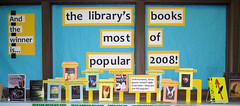 Library's Most Popular Books of 2008 (nataliesap) Tags: display highschool 2008 bookdisplay liblibs unihigh popularbooks