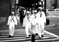 """Fleet Week"" (Sion Fullana) Tags: urban blackandwhite newyork men blancoynegro lumix streetshots streetphotography sailors westvillage crosswalk allrightsreserved cuteguys fleetweek marineros cutesailors 4sailors theperfectphotographer sionfullana sionfullanasphotography youngcutesailors sionfullana"