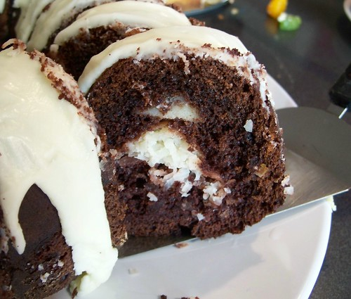 Chocolate Bundt Cake With Coconut Macaroon Filling