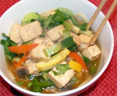 Vegetarian pho with tofu