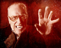 Forrest J Ackerman Portrait 5 (Mark Berry - Photographer & Graphic Designer) Tags: markberry photography writing forrestjackerman forry forryackerman interview belalugosi vincentprice boriskarloff lugosi karloff famousmonsters famousmonstersoffilmland horror mrscifi vampire cloak ring cultpersonalities cult personality famous infamous estoreric fanculture hotcherry bristol uk us based losangeles la wwwhotcherrycouk photographer designer writer december 4 2008 rip forrestackerman fja