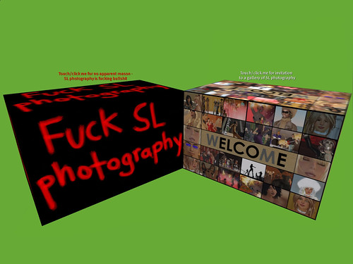 Fuck SL Photography - * 99% OF SL PHOTOGRAPHY IS KITSCH BULLSHIT.