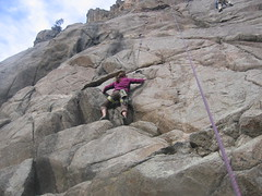 Kristi Approaching First Bolt of Topless Etiquette (5.8)
