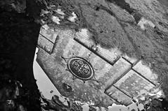 Mirror (raffaespo) Tags: bw church rain reflections puddle gothic chiesa napoli naples riflessi pioggia middleages neapel tufo rosone gotico d300 rosewindow pozzanghera santachiara  nikkor18200vr nikond300  napolyi