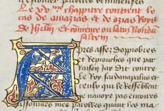 Detail of rubrication, script and illuminated initial A