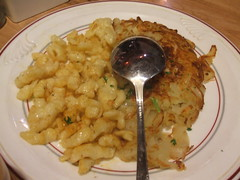 Roesti and spaetzli