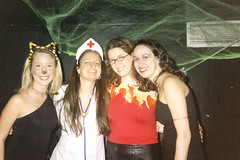 Halloween at KDR (WestSideLaura) Tags: me stacie pittsburgh melissa
