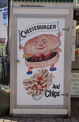 2009_02_wk3_DSC02590_6h - cheeseburger (Gwydion M. Williams) Tags: uk greatbritain england signs fun graphicdesign funny britain humor humour laugh peterborough eastanglia adverts commercialart gwydion publicsigns peterborougheastanglia gwydionwilliams