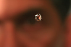 Tagged! (laszlo-photo) Tags: selfportrait me water self lens waterdrop drop tagged again refraction