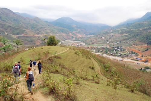 trekking into ban ho village