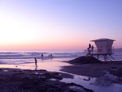 Hint of pink (the_kats) Tags: ocean california pink beach dusk lifeguard lajolla