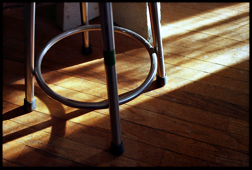 Stool, Sunlight by Voxphoto