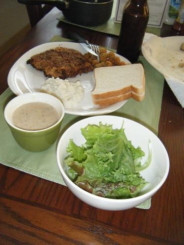 Chicken Fried Steak w/ Gravy Pictures (Recession Menu)