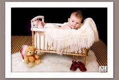 Sofie (MissSmile) Tags: bear portrait baby cute girl studio children kid child small adorable tiny blanket props onblack misssmile