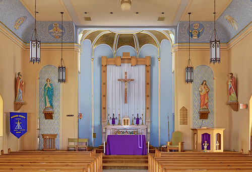Immaculate Conception (Saint Mary's) Roman Catholic Church, in Brussels, Calhoun County, Illinois, USA - sanctuary